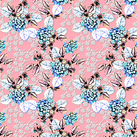 Verbena Floral Clusters fabric by joanmclemore on Spoonflower - custom fabric