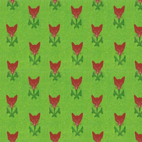 Fox Flowers fabric by ragan on Spoonflower - custom fabric