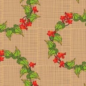 Bittersweet Wreath on Burlap