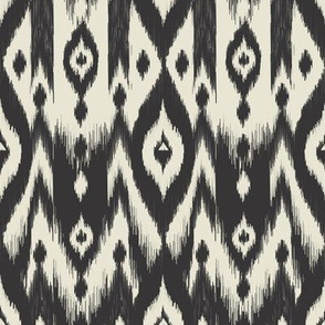 Black & Cream Tribal Ikat