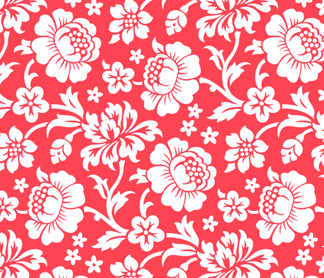 Tahitian Flowers 2a fabric by muhlenkott on Spoonflower - custom fabric