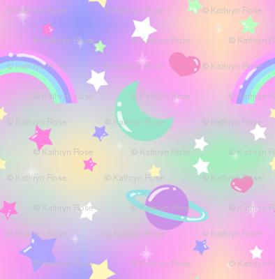 Kawaii Fairy Kei Pastel Galaxy