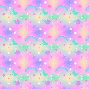 Kawaii Fairy Kei Pastel Galaxy