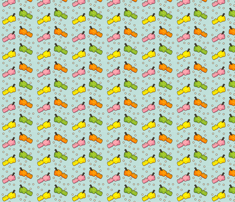 Hungry Hungry Hippo Retro Board Game Pastel fabric by kathrynrose on Spoonflower - custom fabric