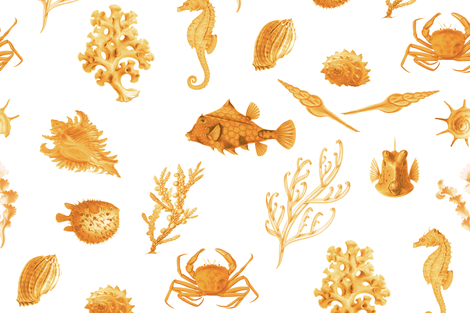 Monterey in Sunshine fabric by willowlanetextiles on Spoonflower - custom fabric