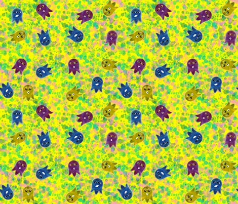Ghosts_Bubbles fabric by akwdesigns on Spoonflower - custom fabric