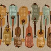 2015 Instrument Calendar  - Vintage