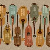2016 Instrument Calendar  - Vintage