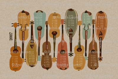 2017 Instrument Calendar  - Vintage
