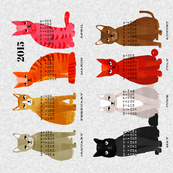 2015 Cat Calendar - Light Version