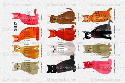 2017 Cat Calendar - Light Version by Andrea Lauren