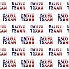 Native Texan Text Flag