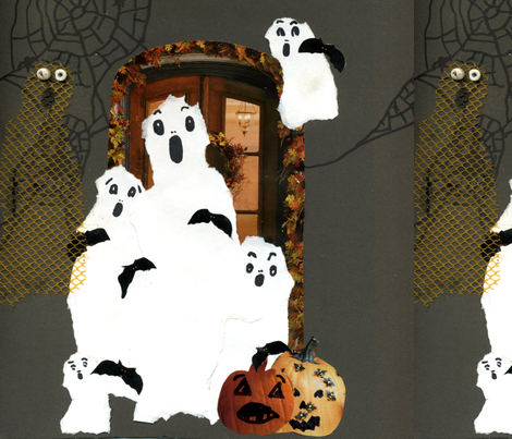 family ghosts fabric by pink_finch on Spoonflower - custom fabric