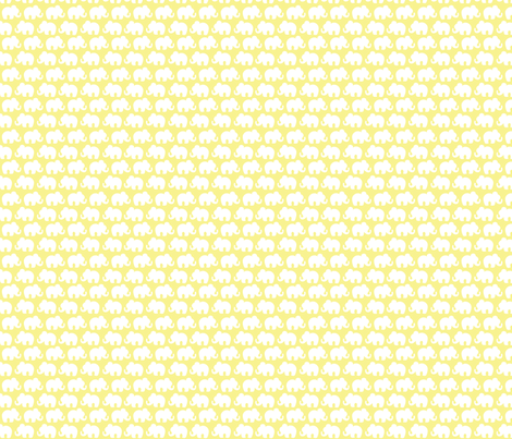 yellow Elephants fabric by emysue2005 on Spoonflower - custom fabric