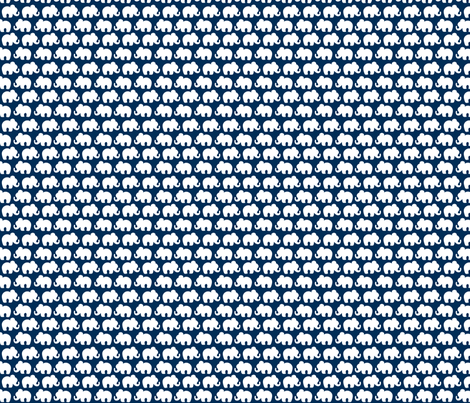 navy elephants fabric by plaidgoose_designs on Spoonflower - custom fabric