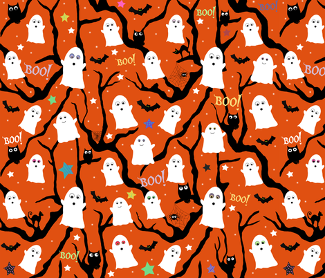 Spooktacular fabric by arttreedesigns on Spoonflower - custom fabric