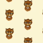 Mr Fox on Cream Background