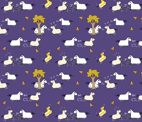 Giddyup Ghosts fabric by canterlanedesign on Spoonflower - custom fabric