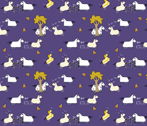 Giddyup Ghosts fabric by clpourlamaison on Spoonflower - custom fabric