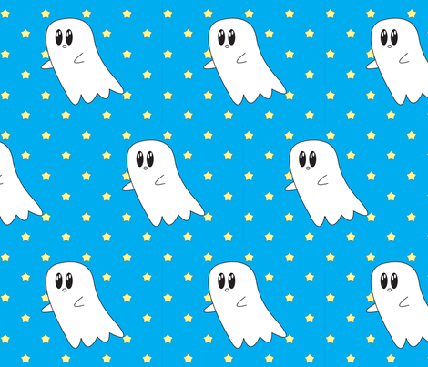 ghost fabric by izbits_world on Spoonflower - custom fabric