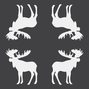charcoal moose