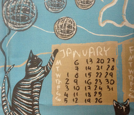 cat lover's calendar 2014 blue