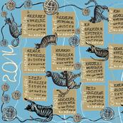 cat lover's calendar 2014 blue