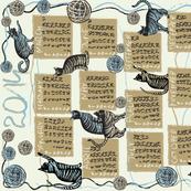 cat lover's calendar 2014