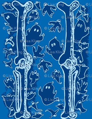 Blue Ghosties and  Leg Bones