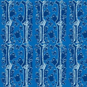 Blue Ghosties and  Leg Bones