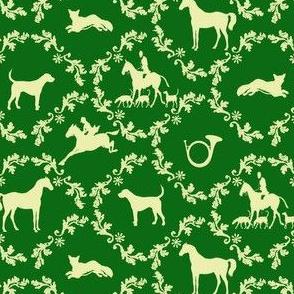 Hunt Damask green