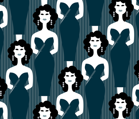 Film Noir fabric by melhales on Spoonflower - custom fabric