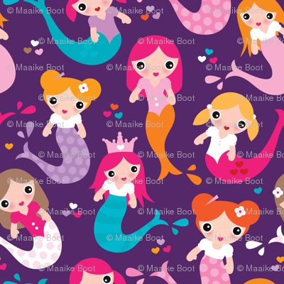 Violet mermaid girls