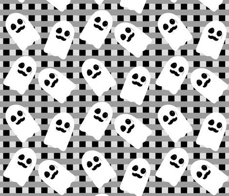 Mustache Monocle Ghosts fabric by lucy_myfunnybuddy on Spoonflower - custom fabric
