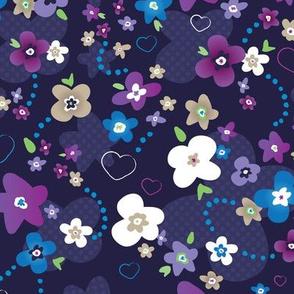 Blue night blossom
