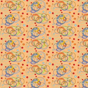 Multi-colored CirclesandDots (Peach)