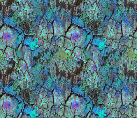 Fissure3 with turquoise and blue