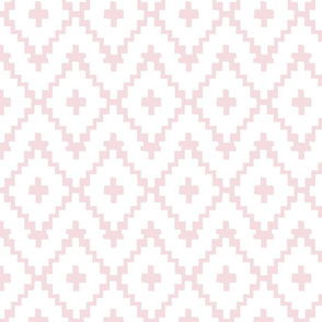 Southwest Diamond Chevron _Pink and White