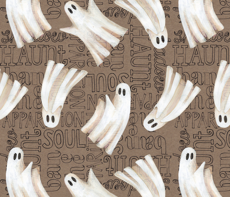 Ghost Writer fabric by cosecreative on Spoonflower - custom fabric