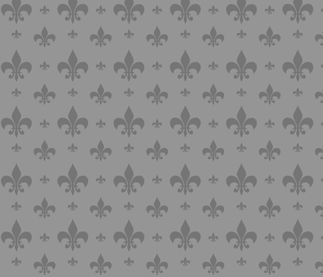Grey Tone on Tone Fleur-de-lis fabric by carbonatedcreations on Spoonflower - custom fabric