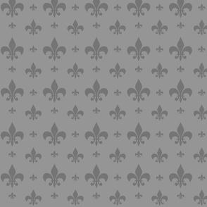 Grey Tone on Tone Fleur-de-lis