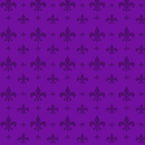 Purple Tone on Tone Fleur-de-lis