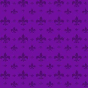 Purple Tone on Tone Fleur-de-lis