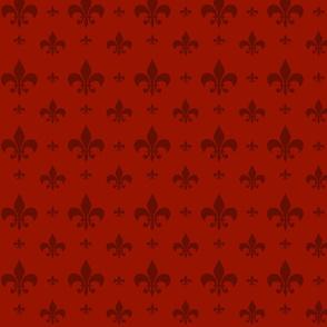 Red Tone on Tone Fleur-de-lis
