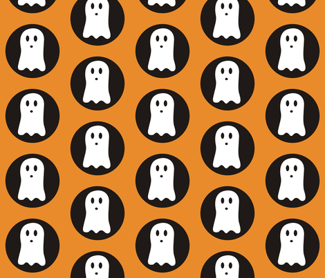 Spooky Polka Halloween fabric by smuk on Spoonflower - custom fabric