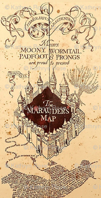 Marauders Map Small Print Harry Potter
