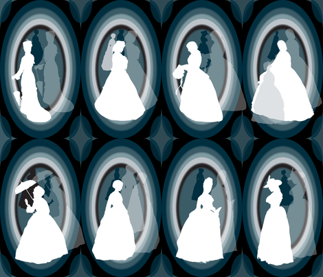 Cameo Ghosts fabric by paula's_designs on Spoonflower - custom fabric