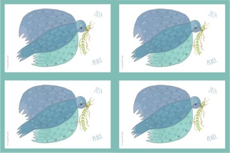 Tea_towel_bird fabric by johannawh on Spoonflower - custom fabric