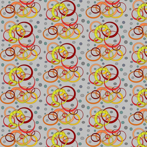 Orange,Red+Yellow CirclesandDots (Gray)