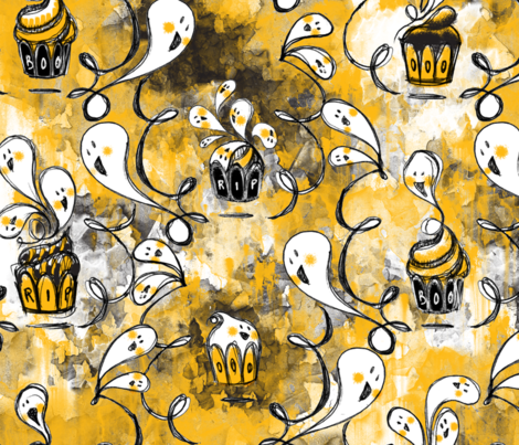 Ghoulish Treats - © Lucinda Wei fabric by lucindawei on Spoonflower - custom fabric